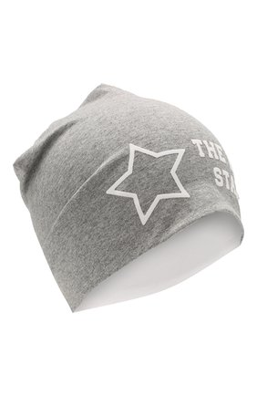 Детского хлопковая шапка IL TRENINO светло-серого цвета, арт. 20 6876/E0 | Фото 1
