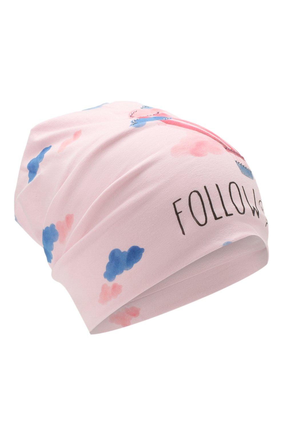 Детского хлопковая шапка IL TRENINO розового цвета, арт. 20 6918/E0 | Фото 1