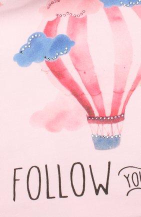 Детского хлопковая шапка IL TRENINO розового цвета, арт. 20 6918/E0 | Фото 3