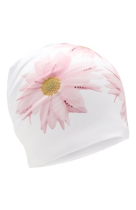 Детского хлопковая шапка IL TRENINO белого цвета, арт. 20 6924/E0 | Фото 1