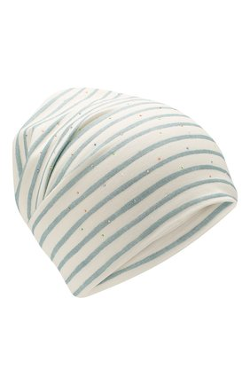 Детского хлопковая шапка IL TRENINO белого цвета, арт. 20 6929/E0 | Фото 1