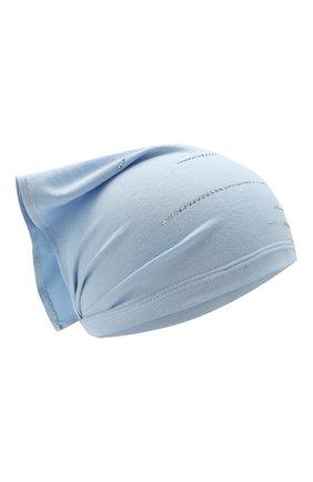 Детская хлопковая косынка IL TRENINO голубого цвета, арт. 20 6942/E0 | Фото 1
