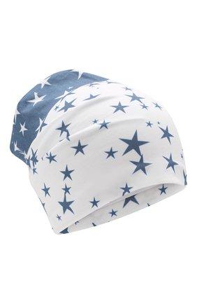 Детского хлопковая шапка IL TRENINO синего цвета, арт. 20 6950/E0 | Фото 1