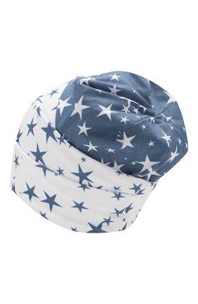Детского хлопковая шапка IL TRENINO синего цвета, арт. 20 6950/E0 | Фото 2