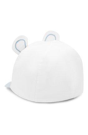 Детская хлопковая кепка IL TRENINO белого цвета, арт. 20 7034/E0 | Фото 2