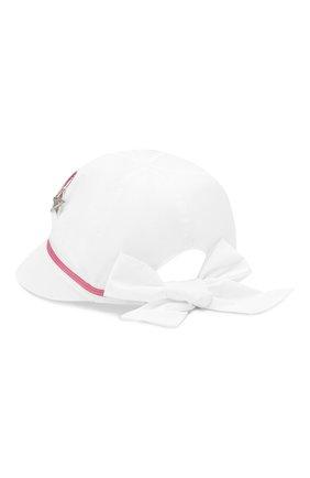 Детская хлопковая кепка IL TRENINO белого цвета, арт. 20 7084/E0 | Фото 2