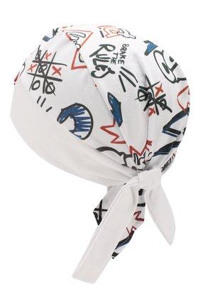 Детская хлопковая косынка IL TRENINO белого цвета, арт. 20 7213/E0 | Фото 2