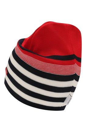 Детского хлопковая шапка IL TRENINO красного цвета, арт. 20 7228/E0 | Фото 2
