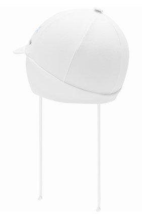Детская хлопковая кепка IL TRENINO белого цвета, арт. 20 7262/E0 | Фото 2