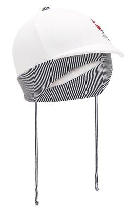 Детская хлопковая кепка IL TRENINO белого цвета, арт. 20 7264/E0 | Фото 1