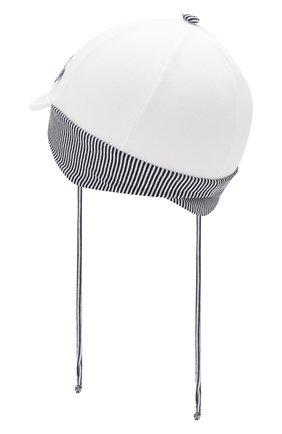Детская хлопковая кепка IL TRENINO белого цвета, арт. 20 7264/E0 | Фото 2