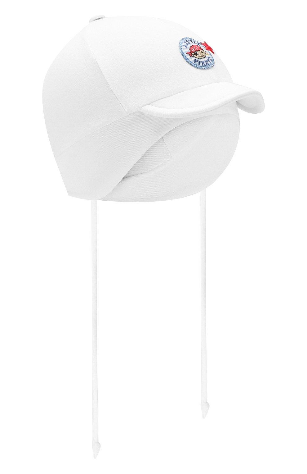 Детская хлопковая кепка IL TRENINO белого цвета, арт. 20 7275/E0 | Фото 1