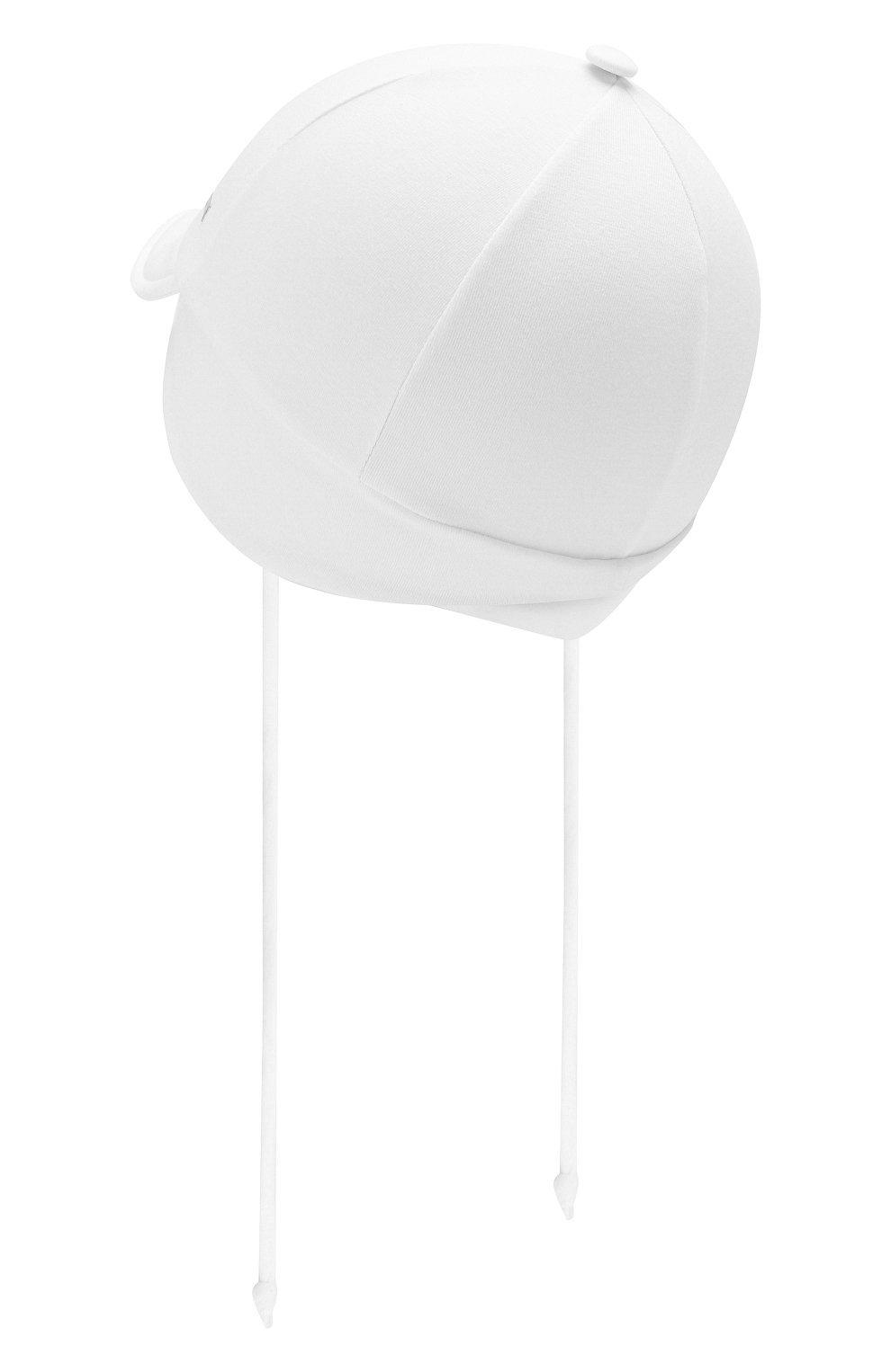 Детская хлопковая кепка IL TRENINO белого цвета, арт. 20 7275/E0 | Фото 2