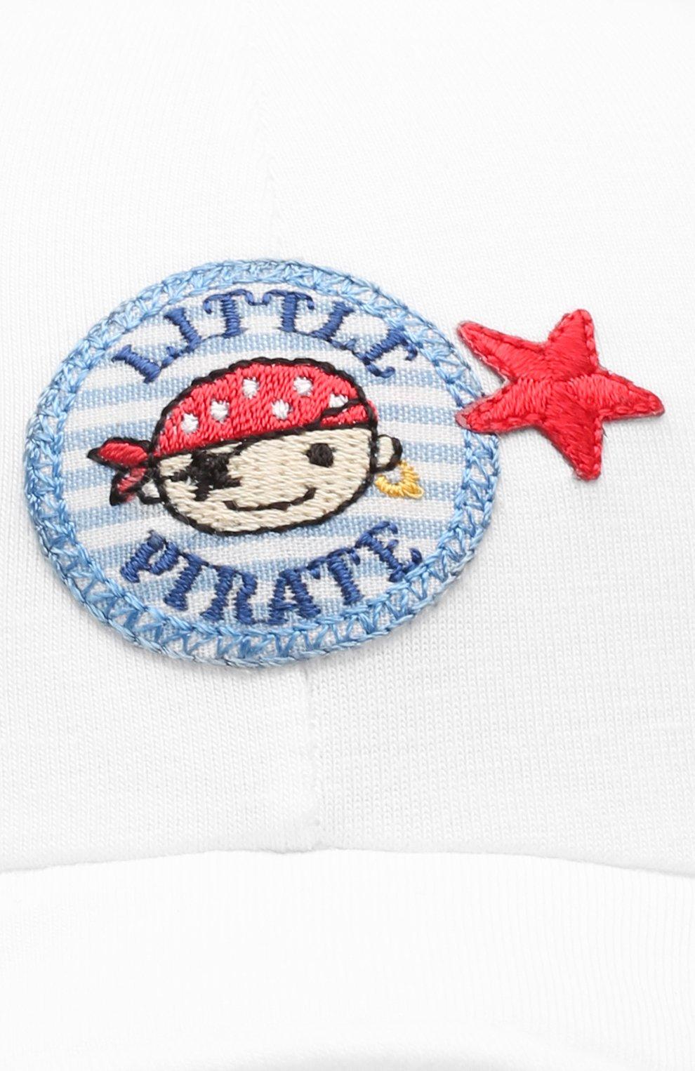 Детская хлопковая кепка IL TRENINO белого цвета, арт. 20 7275/E0 | Фото 3