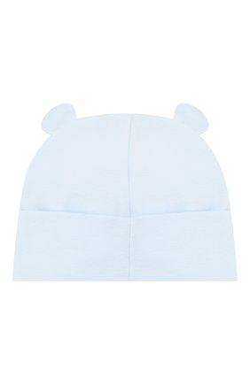 Детского хлопковая шапка IL TRENINO голубого цвета, арт. 20 7277/E0 | Фото 2