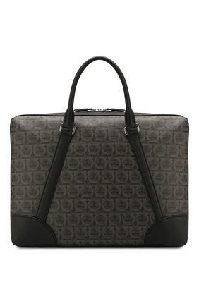 Мужская сумка для ноутбука SALVATORE FERRAGAMO темно-серого цвета, арт. Z-0716628 | Фото 1