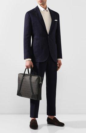 Мужская сумка для ноутбука SALVATORE FERRAGAMO темно-серого цвета, арт. Z-0716628 | Фото 2