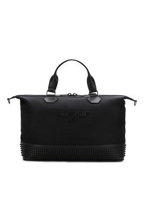 Мужская дорожная сумка PHILIPP PLEIN черного цвета, арт. S20A MBD0198 PCO019N | Фото 1