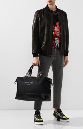 Мужская дорожная сумка PHILIPP PLEIN черного цвета, арт. S20A MBD0198 PCO019N | Фото 2