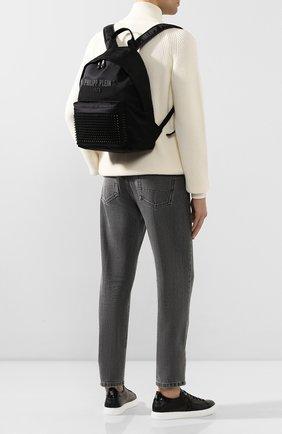 Мужской рюкзак PHILIPP PLEIN черного цвета, арт. S20A MBA0906 PCO019N | Фото 2