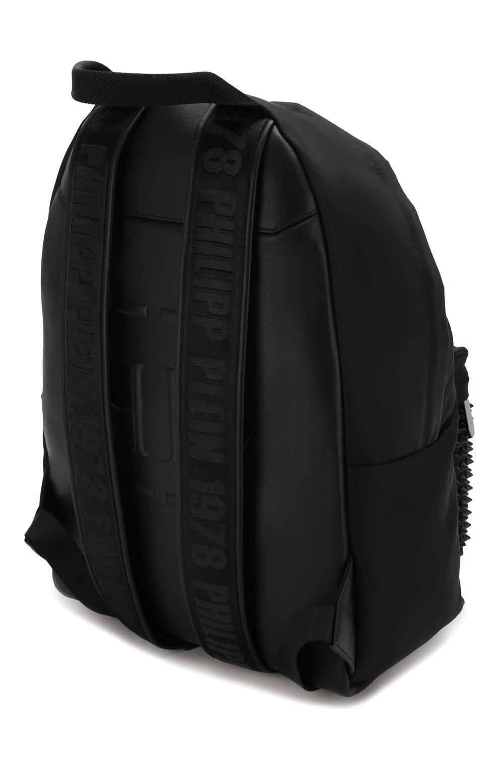 Мужской рюкзак PHILIPP PLEIN черного цвета, арт. S20A MBA0906 PCO019N | Фото 3