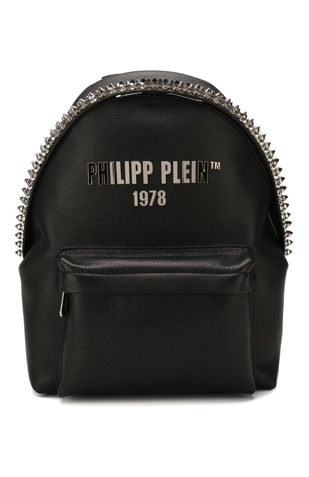 Мужской кожаный рюкзак PHILIPP PLEIN черного цвета, арт. S20A MBA0887 PLE053N | Фото 1