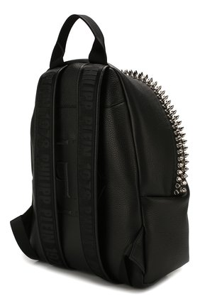 Мужской кожаный рюкзак PHILIPP PLEIN черного цвета, арт. S20A MBA0887 PLE053N | Фото 3