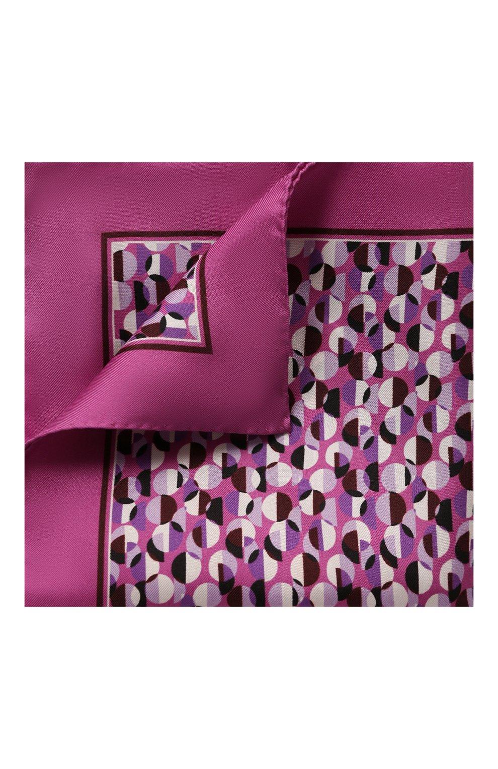 Мужской шелковый платок BOSS сиреневого цвета, арт. 50429485 | Фото 1