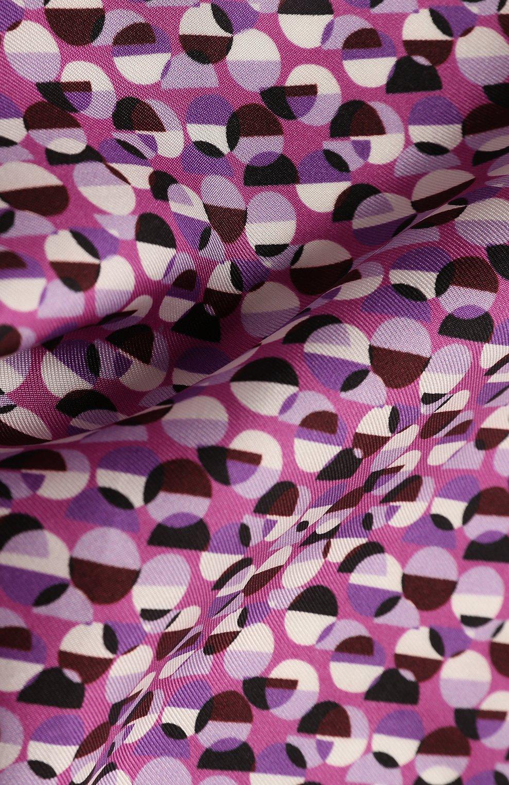 Мужской шелковый платок BOSS сиреневого цвета, арт. 50429485 | Фото 2