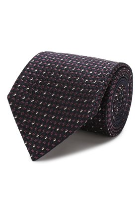 Мужской шелковый галстук ZEGNA COUTURE фиолетового цвета, арт. Z7C01/15C | Фото 1