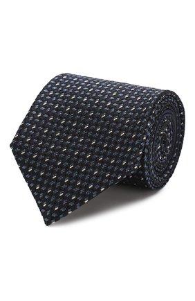 Мужской шелковый галстук ZEGNA COUTURE темно-синего цвета, арт. Z7C00/15C | Фото 1