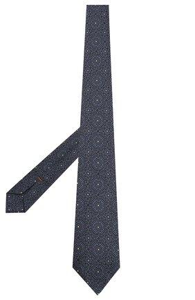 Мужской шелковый галстук ZEGNA COUTURE темно-синего цвета, арт. Z7C00/15C | Фото 2