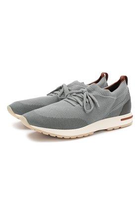 Мужские текстильные кроссовки 360 lp walk LORO PIANA бирюзового цвета, арт. FAI1540 | Фото 1