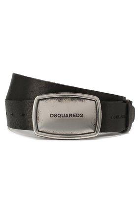 Мужской кожаный ремень DSQUARED2 черного цвета, арт. BEM0223 12900001 | Фото 1
