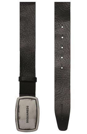 Мужской кожаный ремень DSQUARED2 черного цвета, арт. BEM0223 12900001 | Фото 2
