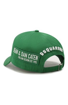 Мужской хлопковая бейсболка icon DSQUARED2 зеленого цвета, арт. BCM0290 05C00001 | Фото 2