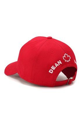 Мужской хлопковая бейсболка DSQUARED2 красного цвета, арт. BCM0282 05C00001 | Фото 2