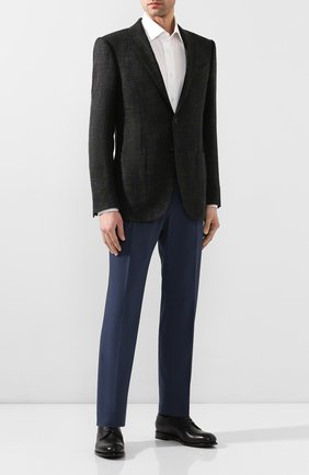 Мужской кожаные дерби ZEGNA COUTURE темно-синего цвета, арт. A4418X-LHNAX | Фото 2
