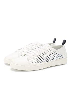 Мужские кожаные кеды BARRETT белого цвета, арт. N0LE-04.1/VITELL0 BARD0LIN0 | Фото 1 (Подошва: Массивная; Материал внутренний: Натуральная кожа)