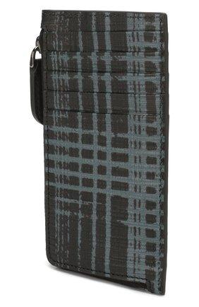 Мужской кожаный футляр для кредитных карт ERMENEGILDO ZEGNA синего цвета, арт. E1571J-LHJAS | Фото 2