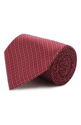 Мужской шелковый галстук BRIONI красного цвета, арт. 062H00/P941P | Фото 1