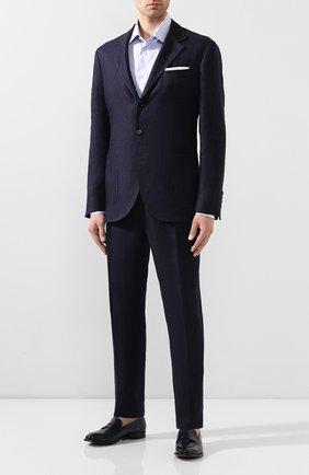 Мужские кожаные пенни-лоферы SILVANO SASSETTI синего цвета, арт. S19972X413BDIVIBLU. | Фото 2