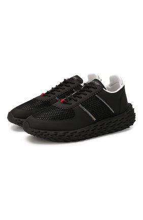 Мужские текстильные кроссовки GIUSEPPE ZANOTTI DESIGN черного цвета, арт. RM00029/004 | Фото 1