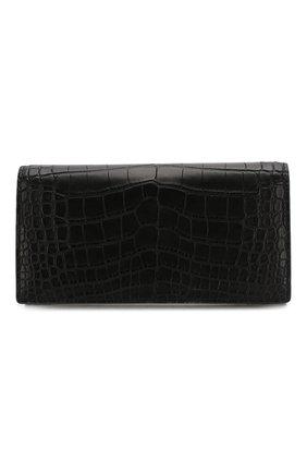 Мужской портмоне из кожи аллигатора BOTTEGA VENETA черного цвета, арт. 591365/V203D/AMIS | Фото 1