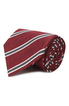 Мужской шелковый галстук BRIONI бордового цвета, арт. 062H00/P940E | Фото 1