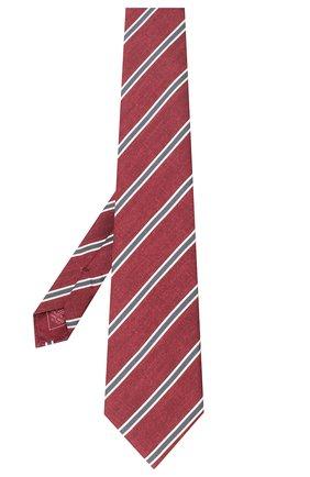 Мужской шелковый галстук BRIONI бордового цвета, арт. 062H00/P940E | Фото 2