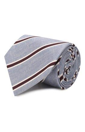 Мужской шелковый галстук BRIONI голубого цвета, арт. 062H00/P940E | Фото 1