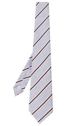 Мужской шелковый галстук BRIONI голубого цвета, арт. 062H00/P940E | Фото 2