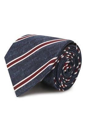 Мужской шелковый галстук BRIONI синего цвета, арт. 062H00/P940E | Фото 1