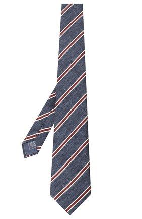 Мужской шелковый галстук BRIONI синего цвета, арт. 062H00/P940E | Фото 2